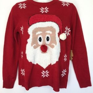 Santa Claus Red Ugly Christmas Sweater